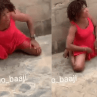 VIDEO – My 'Pu$$y' Is BURNING' – Nigerian Lady Cries In Pain After Bedroom Job With A Man