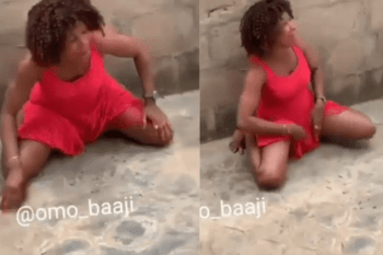 Nigerian Lady Cries In Pain After Bedroom Job With A Man