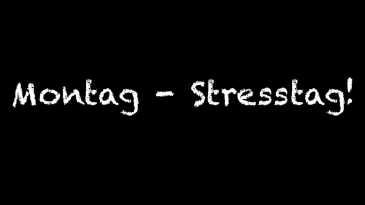 Montag, was für ein Stress!