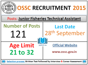 OSSC Recruitment 2015 Apply for 121 Technical Assistant Post at www.ossc.gov.in