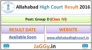 Allahabad High Court Group D Result 2015