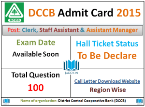 DCCB Call Letter 2015