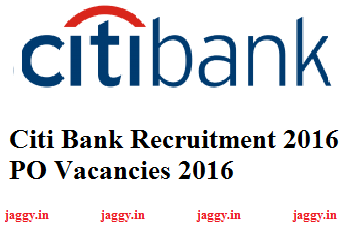 Citi Bank Recruitment 2016