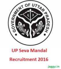 UP Seva Mandal Recruitment 2016