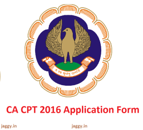 CA CPT 2016 Application Form