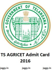 TS AGRICET Admit Card 2016