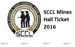 SCCL Mines Hall Ticket