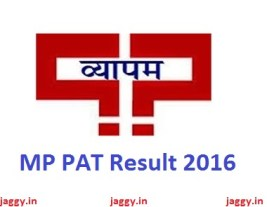 MP PAT Result 2016
