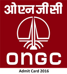 ONGC Admit Card 2016 for Graduate Trainee