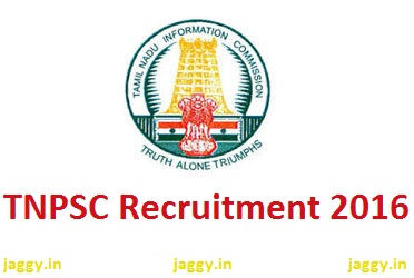 TNPSC Recruitment 2016