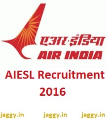 AIESL Recruitment 2016