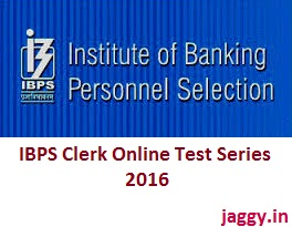 IBPS Clerk Online Test Series 2016