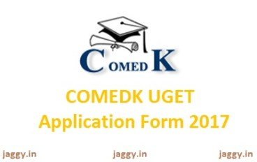COMEDK UGET Application Form 2017