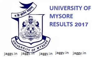 Mysore University Result 2017