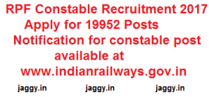 RPF Constable Jobs 2017