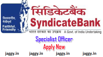 Syndicate Bank SO recruitment 2017