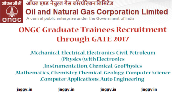 ONGC Graduate Trainee Jobs 2017