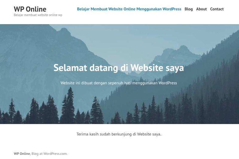 membuat website online di wordpress