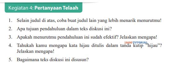 Kirim jawaban dalam bahasa yang baik dan benar. Jawaban Bahasa Indonesia Kelas 9 Kegiatan 4 Pertanyaan Telaah Hal 126 Selain Judul Di Atas Coba Buat