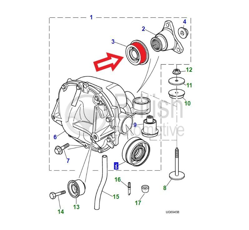 C2S52518 (C2S1490)- gufero unašeče zadního diferenciálu