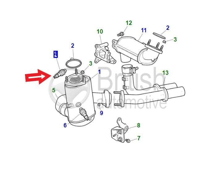 C2S51801- lambda sonda vrchní pro benzínové motory