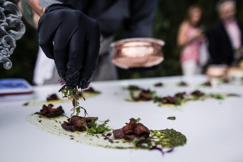 Best Connecticut wedding vendor forks fingers caterer garden party details jagstudios