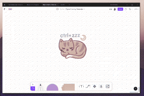 """An illustration of a cat with the hotkey """"ctrl+zzz"""""""