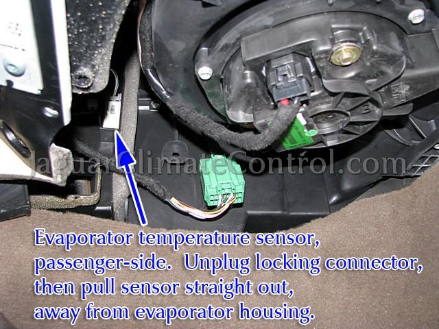 Evap Temp Sensor Passenger on 2000 Lincoln Ls Climate Control System