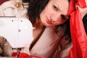 Frustrations of threading a sewing machine