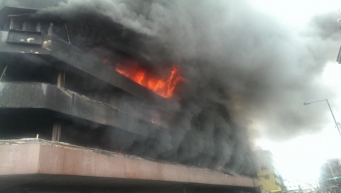 Image result for Fire Engulfs House In Lagos