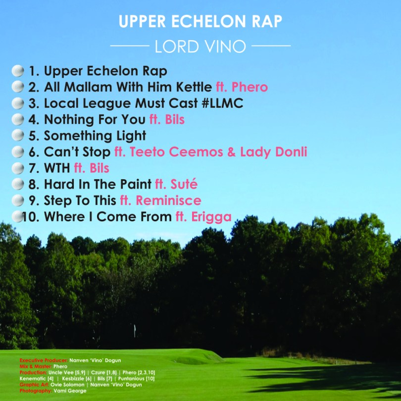 "Back Cover - Lord V Reveals ""Upper Echelon Rap"" Album Tracklist"