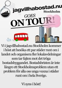 jagvillhabostad.nu goes on tour