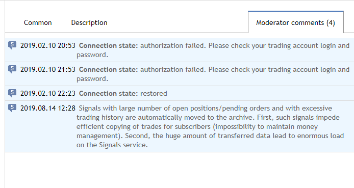MQL5 - forced archive due to too many trades