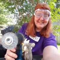 Plot Bunny Helping Her Authorship with Power Tools