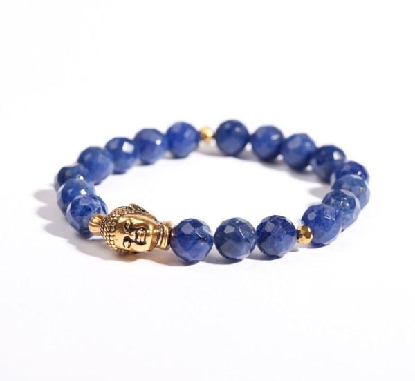 Sodalith Buddha Armband