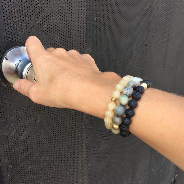 Kraft Armband Lavastein