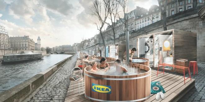 IKEA installe 6 bains nordiques dans le coeur historique de Paris !
