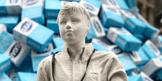 Des sculptures en sucre à Times Square pour dénoncer la malbouffe