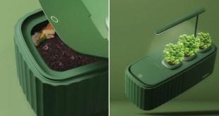 AQUA : le petit potager autosuffisant avec son compost intégré