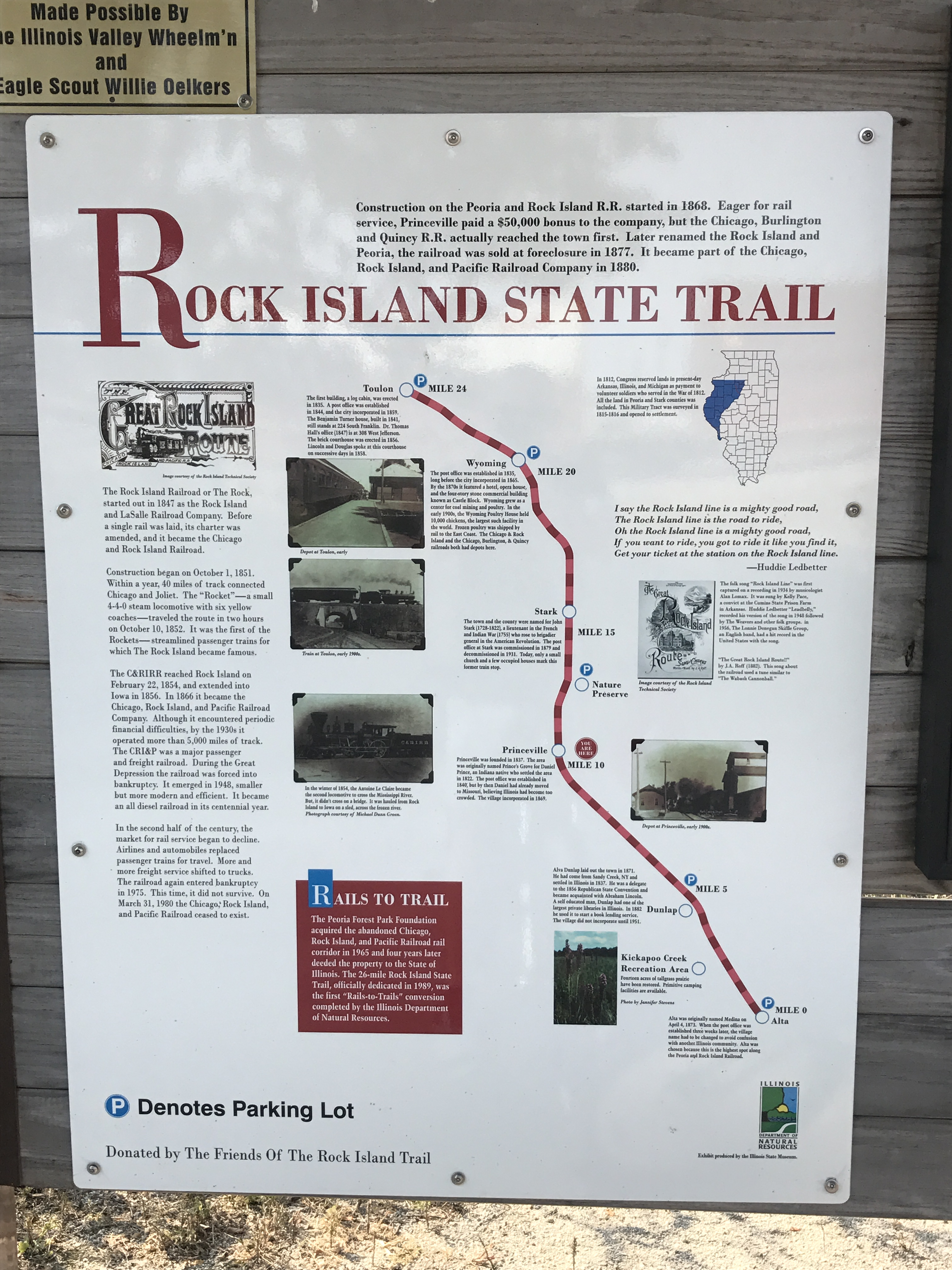 State trail map