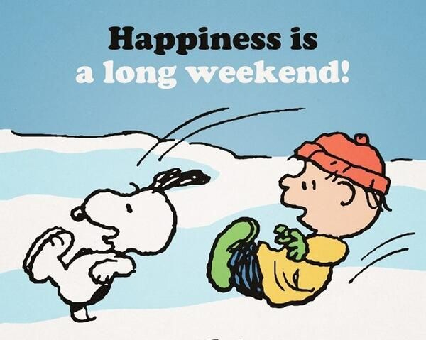 peanuts three day weekend