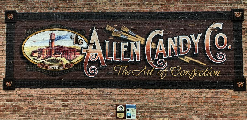 allen candy company mural of pontiac, il