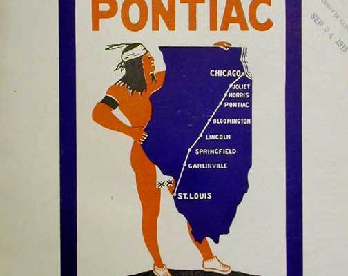 pontiac trail sign