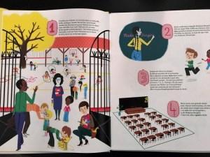 première double page du livre mes 100 premiers jours d'école