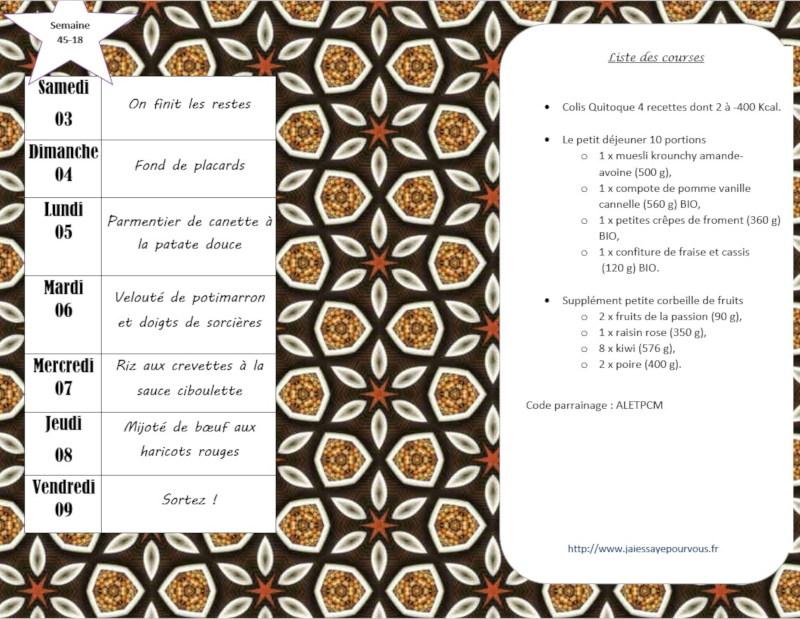 menus semaine 45-2018