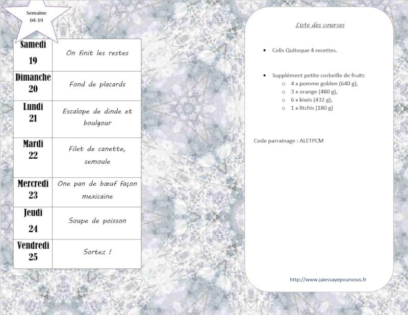 menus semaine 04-19