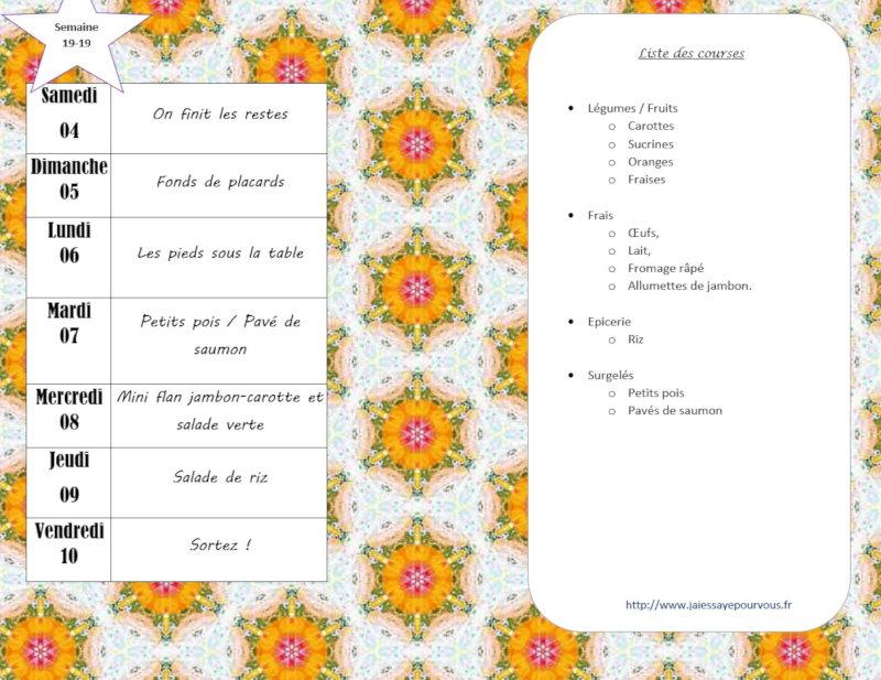 menus semaine 19-19