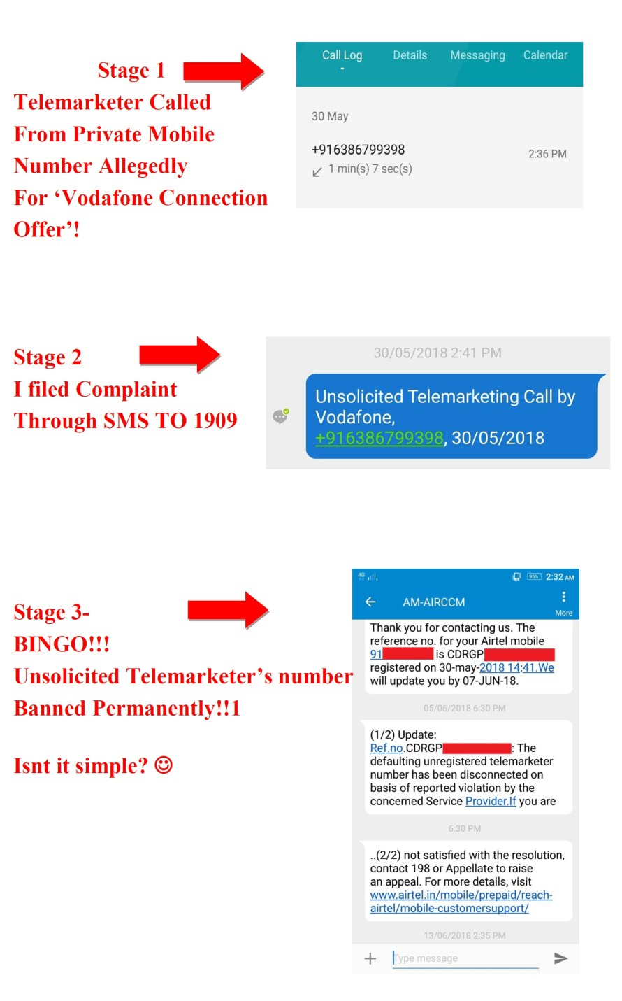 Remedy to Stop Telemarketing Calls & Punish Caller with TRAI Facility