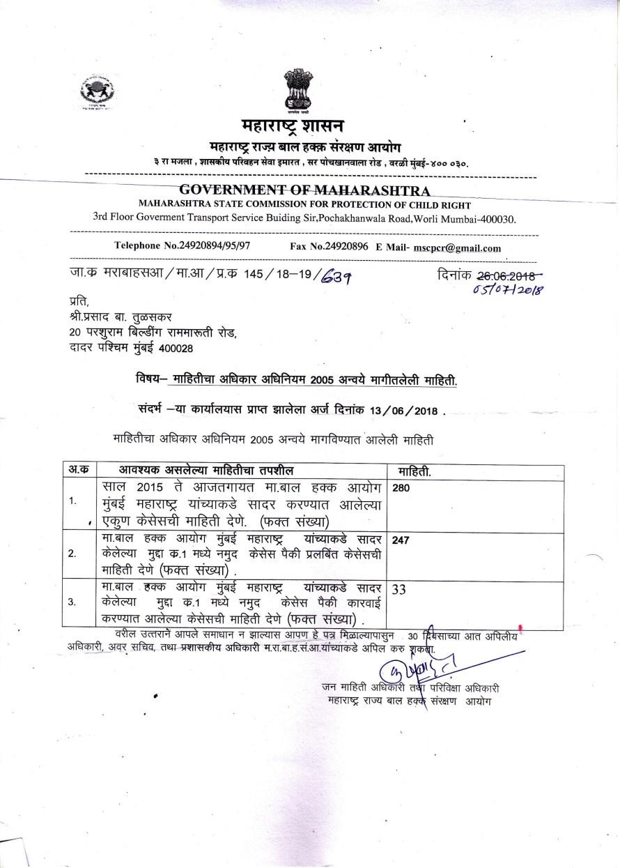 Maharashtra Child Right Commission's inaction revealed