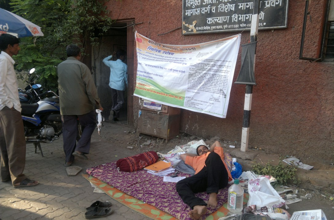 Adv.Siddharthshankar Sharma Hunger Strike against ILS Law College